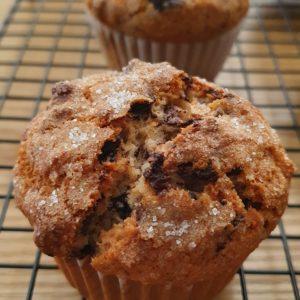Banana Muffins con cioccolato e noci